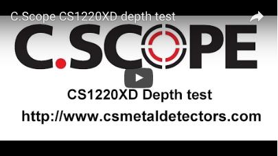 C.SCOPE CS1220XD Metal Detector depth test
