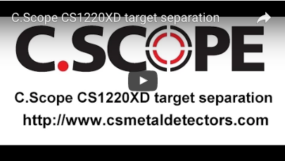 C.SCOPE CS1220XD Metal Detector target separation