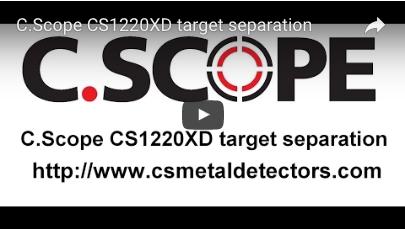 C.SCOPE CS1220XD Metal Detector target separation
