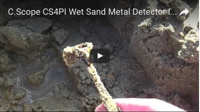C.SCOPE CS4Pi Wet Sand Metal Detector introduction video