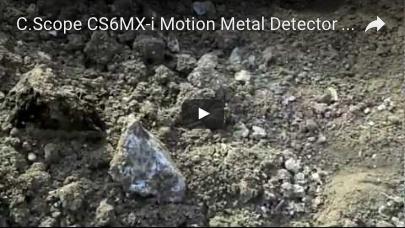 C.SCOPE CS6MXi Motion Metal Detector detecting outing video