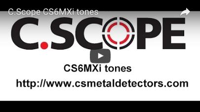 C.SCOPE CS6MXi Metal Detector tones video